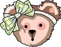 Nallebjörn med bowen Arkivfoton
