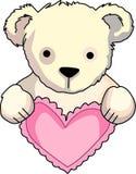 Nallebjörn med hjärta Arkivbild