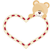 Nallebjörn med hjärta royaltyfri illustrationer