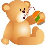 Nallebjörn som dricker sodavatten vektor illustrationer