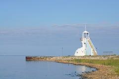 Nallikari Majakka (latarnia morska) Obraz Stock
