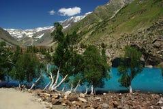 Naltar lake. Is starting point for pakora pass trek in karakoram Royalty Free Stock Photography
