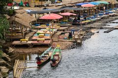 Nam歌曲河在Vang Vieng,老挝 库存照片