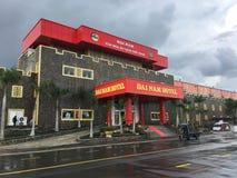 戴Nam游乐园的旅馆在胡志明市,越南 免版税图库摄影