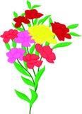 Nam bloem en bladeren toe Royalty-vrije Stock Afbeeldingen