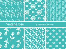 Nam bloem vastgestelde uitstekende patronen toe Royalty-vrije Stock Afbeeldingen