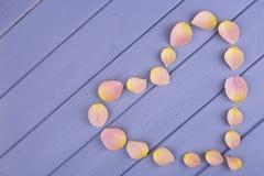 Nam bloemblaadjes in de vorm van harten toe Royalty-vrije Stock Fotografie