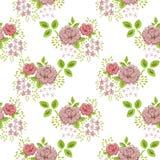 Nam bloemen naadloos uitstekend patroon toe Royalty-vrije Stock Fotografie