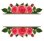 Nam bloemenranden toe royalty-vrije stock afbeelding