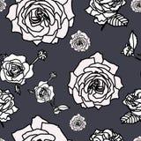 Nam bloemreeks van bloeiende installatie toe De tuin nam geïsoleerd pictogram van witte bloesem, bloemblaadjes op grijze achtergr vector illustratie