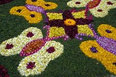 Nam de decoratie van bloemblaadjesrangoli toe royalty-vrije stock foto