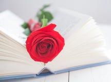 Nam en Boek Romaanse liefde toe Royalty-vrije Stock Foto's