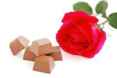 nam en chocolade toe Stock Afbeelding