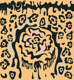 Nam en luipaardvlekken toe vector illustratie