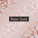 Nam goud toe Vector decoratieve achtergrond met imitatie van roze goud royalty-vrije illustratie