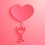 Nam hart op roze achtergrond toe Stock Foto's