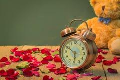 Nam horloges van liefde toe Stock Afbeelding