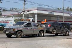 Nam Jaruen Tow truck for emergency car move Stock Image