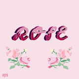 Nam, kaart, roze, wijnoogst, achtergrond, gift, liefde, de jeugd, roze toe Royalty-vrije Stock Foto's