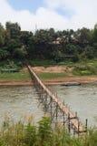 Nam Khan River in Luang Prabang stock foto's