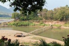 Nam Khan River in Luang Prabang royalty-vrije stock afbeelding