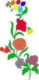 Nam motief, de elementen van het Bloemontwerp toe Stock Afbeeldingen