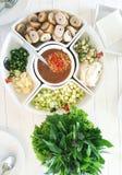 Nam Neung越南丸子套 免版税图库摄影
