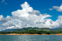 Nam Ngum湖在老挝 库存图片