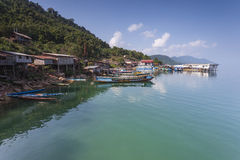 Nam Ngum水库,老挝 免版税库存图片