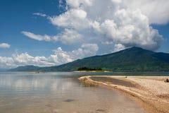 Nam Ngum reservoir in Laos Royalty Free Stock Photo
