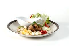 Nam Nuong; Bolas grelhadas da carne de porco com condimentos e molho do amendoim imagens de stock