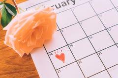 nam op de kalender toe Royalty-vrije Stock Fotografie