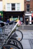Nam op fiets toe Stock Foto
