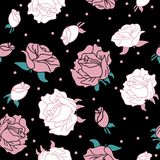 Nam op zwart naadloos patroon toe als achtergrond vector illustratie