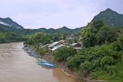 Nam Ou河 库存照片
