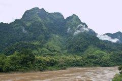 Nam Ou河 库存图片
