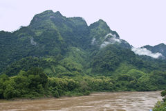 Nam Ou river. Near Nong Khiaw village, northern Laos stock images