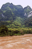 Nam Ou river Royalty Free Stock Images