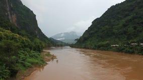 Nam Ou rzeka zdjęcie wideo