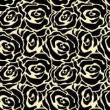 Nam patroon van de de ambacht expressieve inkt van de bloemen het naadloze hand toe Royalty-vrije Stock Foto's