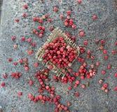 Nam peper op abstracte achtergrond toe Stock Afbeeldingen