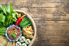 Nam Prick Kung Seab Shrimp paste - thai cuisine - thai food. Shrimp paste - thai cuisine - thai food Royalty Free Stock Photos