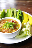 Nam Prik Aong. Northern thai meat and tomato spicy dip Royalty Free Stock Photography