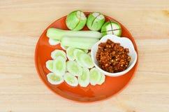 Nam Prik śliwki Yang (Korzenne Piec na grillu ryba) Zdjęcia Stock