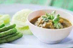 Nam Prik Num ,Northern Thai Green Chilli Dip Stock Photos