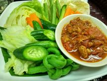 Nam prik ong food of North of  Thailand. This is Nam prik ong food of North of  Thailand Royalty Free Stock Photo
