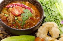 Nam Prik Ong. (thai name) Stock Images