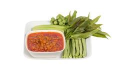 Nam Prik Ong thai name.Thailand food Stock Photos