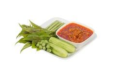 Nam Prik Ong thai name.Thailand food Royalty Free Stock Photography