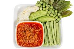 Nam Prik Ong thai name.Thailand food Stock Image